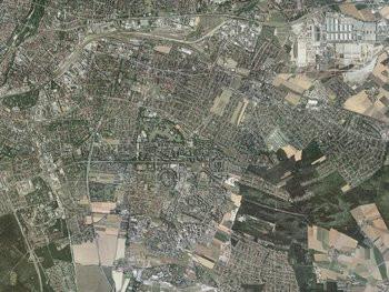 Müncher Osten aus der Vogelperspektive